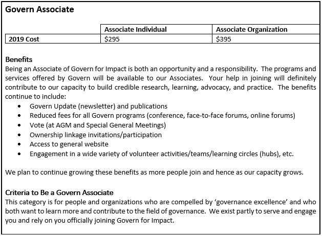 Govern Associate